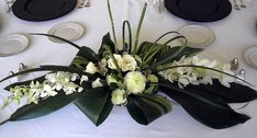 Centerpiece-White Dendrobium Orchids # 2 - # Roses The Effective Pictures We Offer You About minimali - Contemporary Flower Arrangements, Table Flower Arrangements, Orchid Centerpieces, Centerpiece Ideas, Church Flowers, Funeral Flowers, Deco Floral, Arte Floral, White Dendrobium Orchids