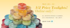 Stock up on your favorite scents!  1/2 price til 5/31!!