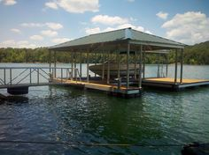 Wahoo Docks-Tennessee installed a beautiful CAT 5 dock on Norris Lake late last month. The dock features a single-slip, combined with a wide-side that also houses a custom side-slip for further docking. Ironwood decking was used in constructing this dock which also features 8′ Aluminum Cleats, as well as Wahoo Custom inline bumpers to protect the owner's boat from any damage it may sustain while idle. Looks like a successful project to me!