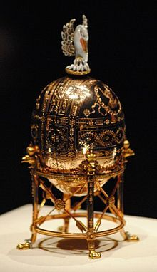 The Dowager or Imperial Pelican Faberge egg was made for Nicholas II of Russia, who presented it to his mother, the Dowager Empress Maria Feodorovna on Easter 1898.