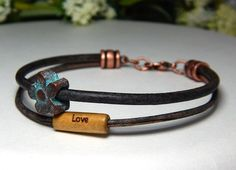 Layered Leather Bracelet – BlueStoneRiver