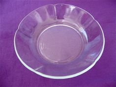 Two Vintage Glass Scalloped Bowls by DelicateCreations on Etsy, $8.99