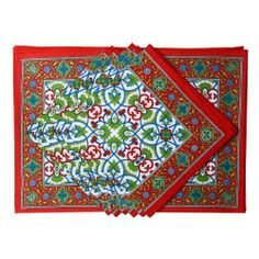 Red Placemats And Napkins Set Of 6 Spring Décorations Indian Cotton by ShalinCraft, http://www.amazon.co.uk/dp/B00BJ1KBVC/ref=cm_sw_r_pi_dp_aXQhtb0MWFFCS