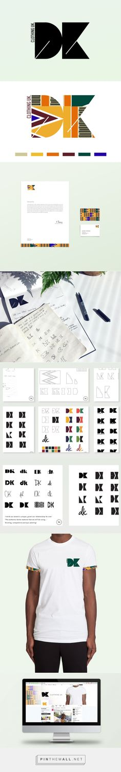 African print inspired logo design and brand identity by Marssaié