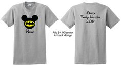 DC Disney Mickey shirt. Batman Superman Green by EllevanDesigns
