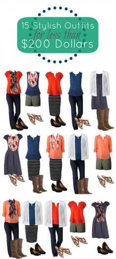 15 outfits for $200 - boo-yah!! #FashionBlogger #RealMomStyle