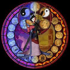 Cross Stitch Pattern for Mulan Kingdom Hearts Princess on Etsy, $5.00