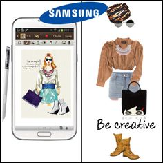 """""""Create a Downtown Muse look for a chance to win a Samsung GALAXY Note II!"""" by inshonia on Polyvore"""