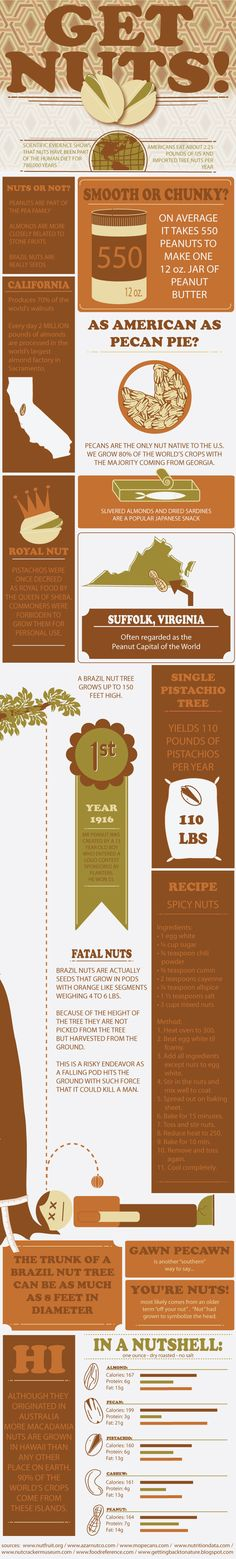 #Nuts #Infographic : Eyes on this nutty infographic | http://finedininglovers.com/blog/food-drinks/food-infographic-nuts/