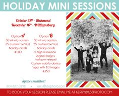 Holiday Mini Sessions.    kerry b smith photography Williamsburg and Richmond, Virginia Children & Family Photographer