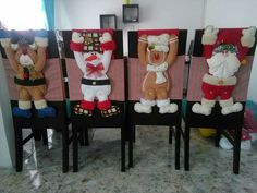 Christmas Wreaths, Christmas Crafts, Christmas Decorations, Xmas, Holiday Decor, Christmas Chair Covers, Patron Crochet, Ideas Para, Crafts For Kids
