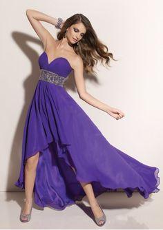 Silhouette  a line Neckline  sweet heart Length  floor length  Embellishment  waist beading Train  no Fabric  chiffon A-line prom dress  with strapless ... abc9c6db392c