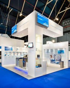 Linde Gas / WOTS Exhibition Stall, Exhibit Design, Convention Centre, Booth Design, Trade Show, Exhibitions, Museums, Ibiza, Minimalism