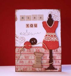 Tim Holtz Card Samples | Tim Holtz Alterations Bigz Die Sewing Room 657186 - Sizzix Tim Holtz ...