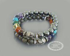 Buddha bracelet 7 chakra bracelet Chakra balancing by EmpathyGifts