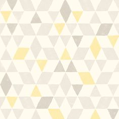 Colours Soft Lemon Geometric Wallpaper | Departments | DIY at B&Q
