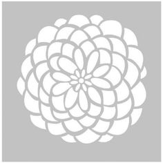 Fabscraps 8 x 8 Desert Rose Stencil - DS 003, Simply Creative