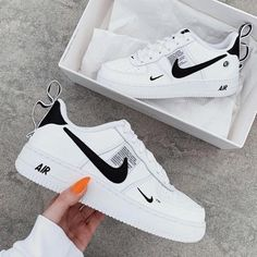 All Nike Shoes, Nike Shoes Air Force, Black Nike Shoes, Hype Shoes, Black Nikes, Running Shoes, Adidas Sneakers, Sports Shoes, Nike Air Force Black