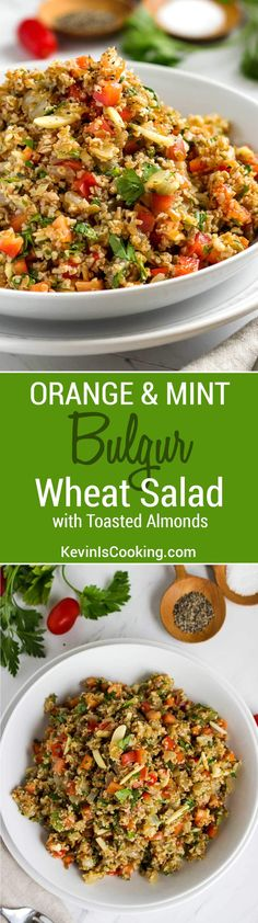 A new twist on the traditional Tabbouleh, this Orange Bulgur Wheat Salad with Mint and Toasted Almonds will knock your socks off. The family said it was a huge hit, will make this again for sure.
