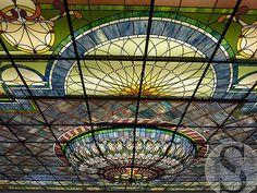 Leaded Glass Bistro Ceiling, By Solarium Design Group Ltd. via Flickr.