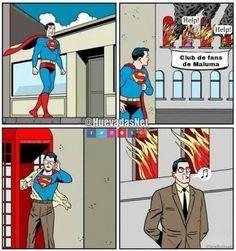 Superman no quiere ayudar al fanclub de Maluma XD  - Meme Para más imágenes graciosas y memes en Español visita: https://www.Huevadas.net #meme #humor #chistes #viral #amor #huevadasnet