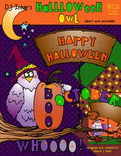 HALLOWEEN OWL CLIPART DOWNLOAD
