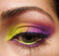 The Makeup Artist: Yellow/Purple Eyeshadow