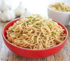 Vietnamese Garlic Butter Noodles -  egg noodles, butter, garlic, soy sauce, sugar, oyster sauce, fish sauce