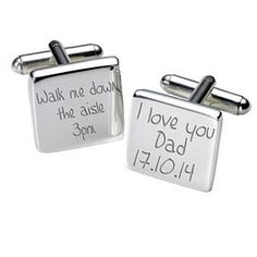 Personalised Father Of The Bride Cufflinks - wedding thank you gifts