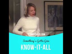 """""""Know-it-all"""" is a person who thinks they know everything.  Usage in a movie…"""
