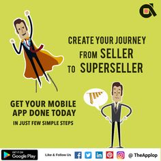 Create your Mobile App today and be a #Superseller with your #Ecommerce #MobileApp . #business #growth #GoDigital #DigitalHo #DigitalIndia #MakeinIndia For more details : http://applop.com/ Call today +91-964-432-2222