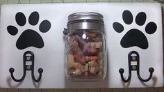 Clever DIY Dog Station Holds Leash and Mason Jar Treats | DIY Joy Projects and Crafts Ideas