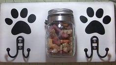 Clever DIY Dog Station Holds Leash and Mason Jar Treats - DIY Joy