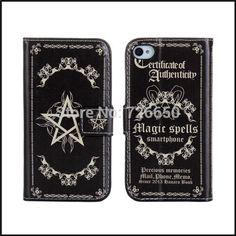 Magic Book Style Leather Case Cover For iPhone 4 4s Phone Bag with Black + Free Screen Protector iPhone Hrvatska - Najbolja online kupovina za vas !   iPhone.hr