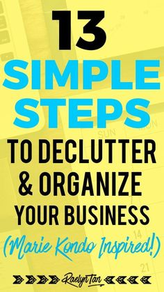 Here are 13 tips and ideas to organize your blog and online business, inspired by Marie Kondo! Learn how to stay organized as a busy blogger and do more things that spark joy in your life! #organize #blog #business via @raelyntan Business Website, Business Tips, Online Business, Marketing Calendar, Digital Marketing, Declutter, Organize, Online Blog, Content Marketing Strategy