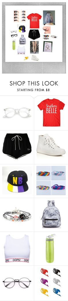 """Slightly south"" by taxitrucetown ❤ liked on Polyvore featuring Off-White, Eileen Fisher, Street Level, Contigo and Polaroid"