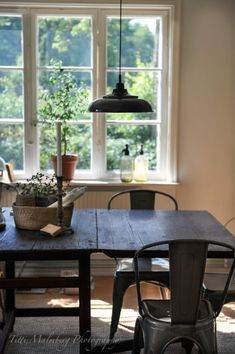 My Country Living Kitchen Interior, Interior And Exterior, Interior Design, Shabby, Dining Area, Dining Table, Up House, Cozy Cottage, Hygge