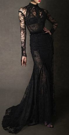 Dark couture. I would love to have this dress!!!!