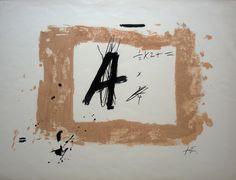 Litografía Tapies - 1976