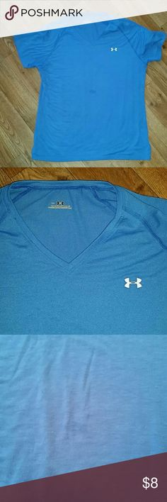 Under Armour shirt. Size medium Under Armour shirt. Size medium. Has little spot in middle of the front. Shown in pic 3. Price reflects this. Otherwise in GUC Under Armour Tops Tees - Short Sleeve