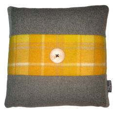 Pure Wool Vintage Blanket Cushion. So that's what we do with the moth ravaged old things...
