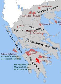 Regiones del vino de Grecia