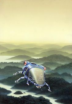 PETER ELSON - art for The Word for World Is Forest by Ursula K. Le Guin - 1980 Panther Books