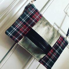 meloumy Cachotin écossais 🏴💗 Velour, simili et tissu à carreaux de mon stock !  Aucun problème d'épaisseur avec ma petite #bernettesewandgo8 😍 #sacotin #cachôtin #imademyaccessories #newbag #sweetfabric #sewingaddict #sewingproject