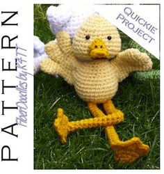 Dilbert the Duck - $3.80 by K4tt of Fiber Doodle / Ducks - Animal Crochet Pattern Round Up - Rebeckah's Treasures