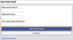 Cara Mengganti Password Akun Facebook Terbaru