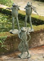 Yoga Frogs (Set of Three) | Charleston Gardens® - Home and Garden Collection Classic outdoor and garden furnishings, urns & planters and garden-related gifts