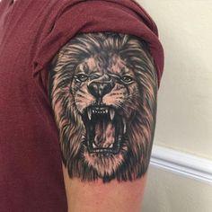 Roaring Lion Face