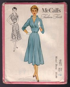McCall's 9427; ©1953; Misse' Dress.  Sold on June 21, 2007 from: Four Little Sparrows - Etsy Shop