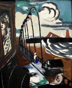 Max Beckmann - Strandpromenade in Scheveningen, 1928 at Kunsthaus Zürich… Max Beckmann, Antoine Bourdelle, Degenerate Art, Illustrator, Expressionist Artists, Emil Nolde, Vintage Artwork, Painting & Drawing, Life Drawing